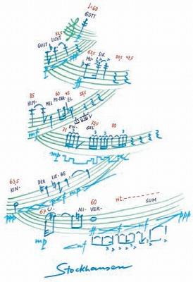 """Partitura Stockhausen, """"Die zehn wichtigsten Wörter"""""""
