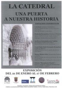 """Cartelm de la exposición """"La catedral: una puerta a nuestra historia"""""""