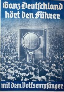 Cartel anunciador en la II Guerra Mundial