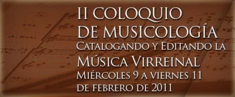 Coloquio de musicología 2011