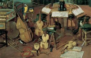 """Detalle de """"El Oido"""", de Brueghel"""