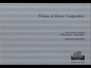 partitura fundacion Juan March