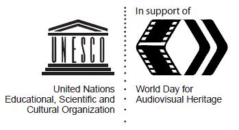 Logo día mundial del patrimonio audiovisual