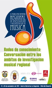 Cartel del foro encuentro de documentación e investigación regional