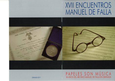 Cartel del XVII encuentro Manuel de Falla