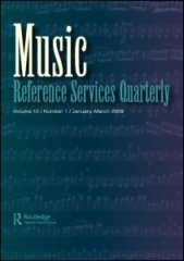 Portada revista Music Reference Services Quarterly