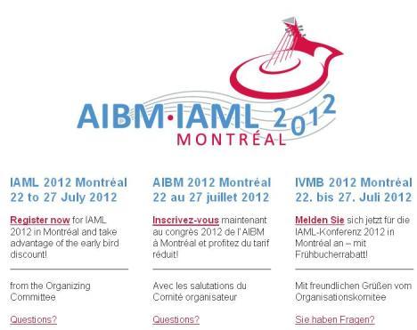 Enlace a la web de la IAML 2012