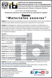 Programa del curso de materiales sonoros de la UNAM