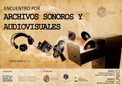 Cartel Encuentro archivos sonoros y audiovisuales