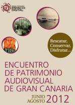 Cartel Encuentro Patrimonio Audiovisual de Gran Canaria