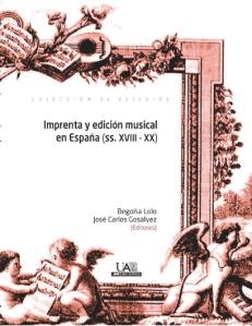 Cubierta publicación Congreso Imprenta y Edición Musical en España.