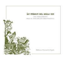 Cubierta manual BNE sobre catalogación de música del siglo XIX