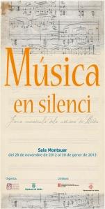 """Cartel exposición """"música en silenci"""""""