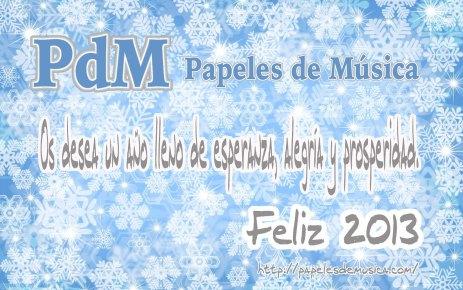Felicitacion Papeles de Música 2012