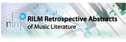 RILM Retrospective Abstracts of Music Literature