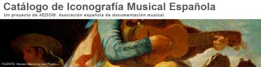 Cabecera del Catálogo de Iconografía Musical Española de AEDOM