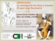 La catalogación de obras y fuentes: El caso Luigi Boccherini