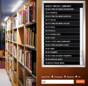 The online sheet music library