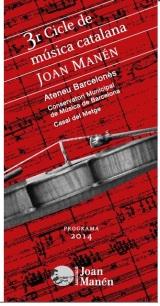 3r Cicle de música catalana Joan Manén