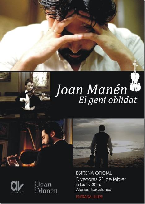 "Documental ""Joan Manén, el geni oblidat""."