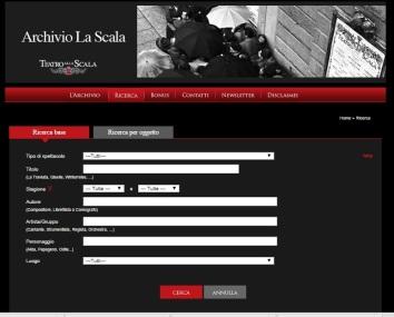Archivio La Scala