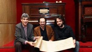 De izq. a dcha: Francesc Cortès, Jaume Ayats y Jordi Roquer. Foto: UAB