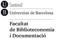 Facultad de biblioteconomía y documentación UB