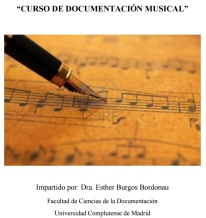 Curso Documentacion musical