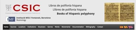 """Libros de Polifonía Hispana - Books of Hispanic Polyphony"