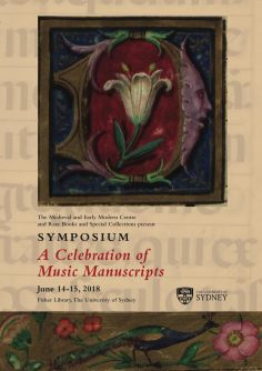 SYMPOSIUM A CELEBRATION OF MUSIC MANUSCRIPTS