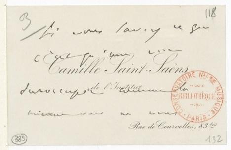Postal de Saint-Saëns en Gallica